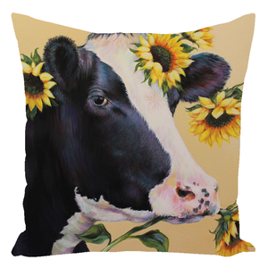 Mabel the Cow Throw Pillows