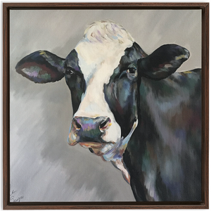 Frances the Cow Framed Canvas Wraps