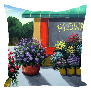 Flower Shop Throw Pillows