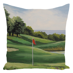 Golf On The Sound Throw Pillows
