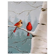 Load image into Gallery viewer, Winter Cardinal Fleece  Blankets