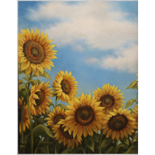 Load image into Gallery viewer, Sunflower Dance Fleece Blankets