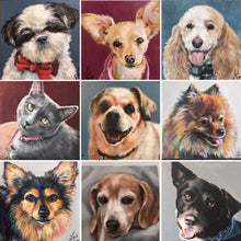 Load image into Gallery viewer, Custom Acrylic Painted Pet Portraits