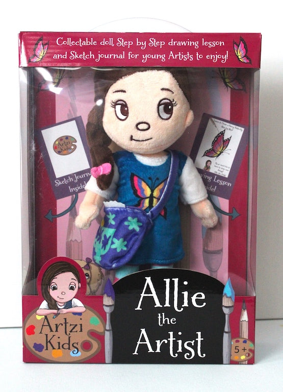 Allie the Artist Paperback Storybook and Art Lesson Gift bundle
