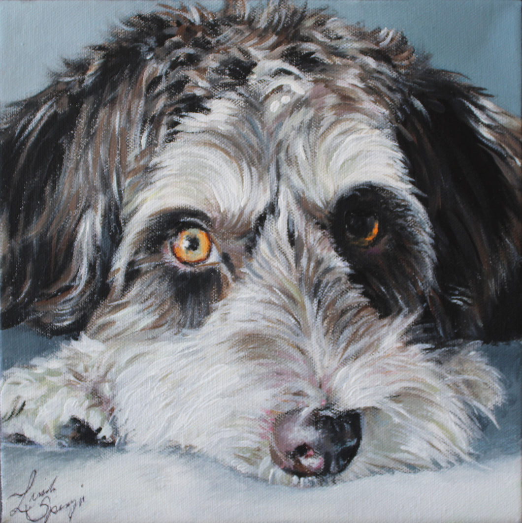 Custom Acrylic Painted Pet Portraits