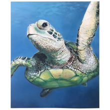 Load image into Gallery viewer, Sheldon The Sea Turtle Fleece Blankets