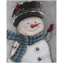 Load image into Gallery viewer, Vintage Snowman Easel Style Canvas Minis