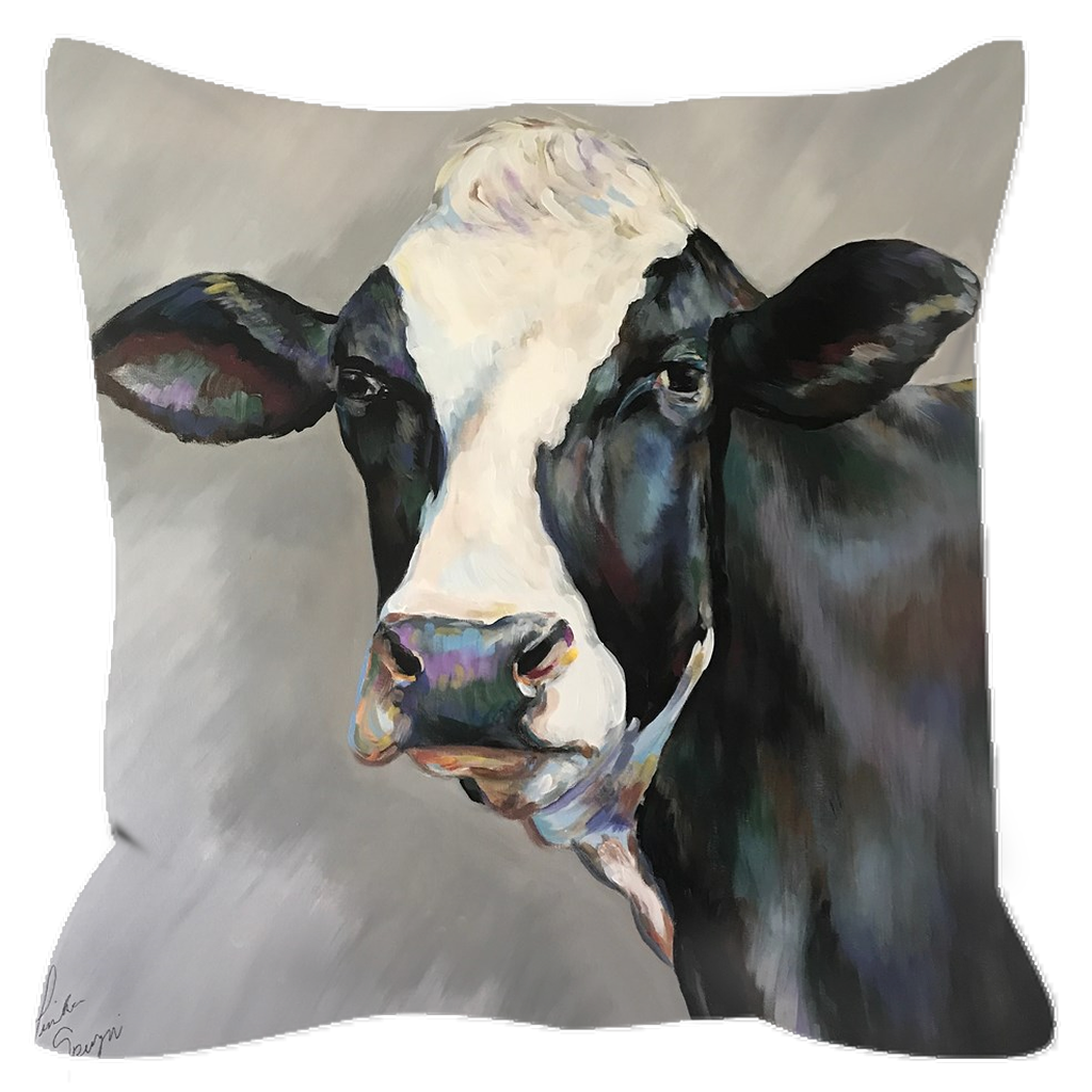 Frances the Cow Outdoor Pillows