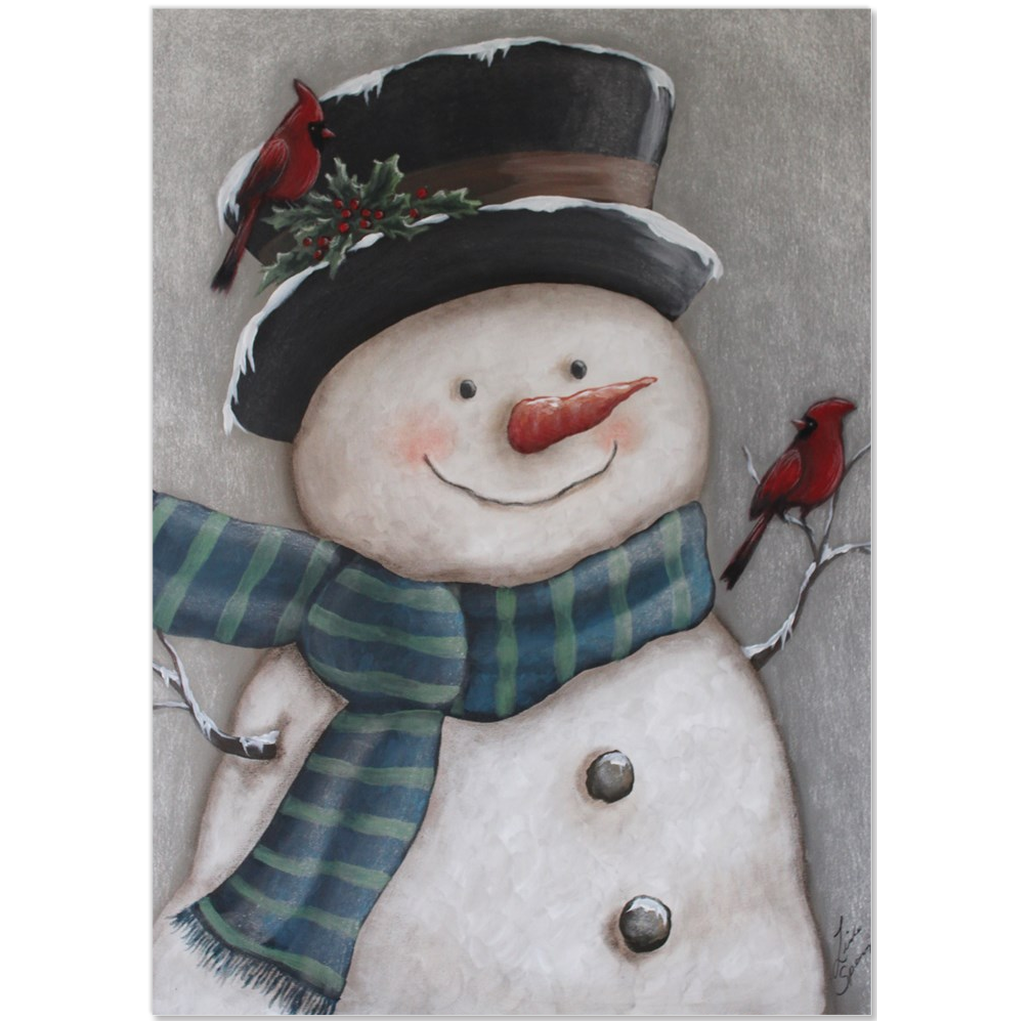 Vintage Snowman Easel Style Canvas Minis