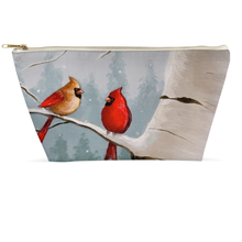 Load image into Gallery viewer, Winter Cardinal Accessory Pouches