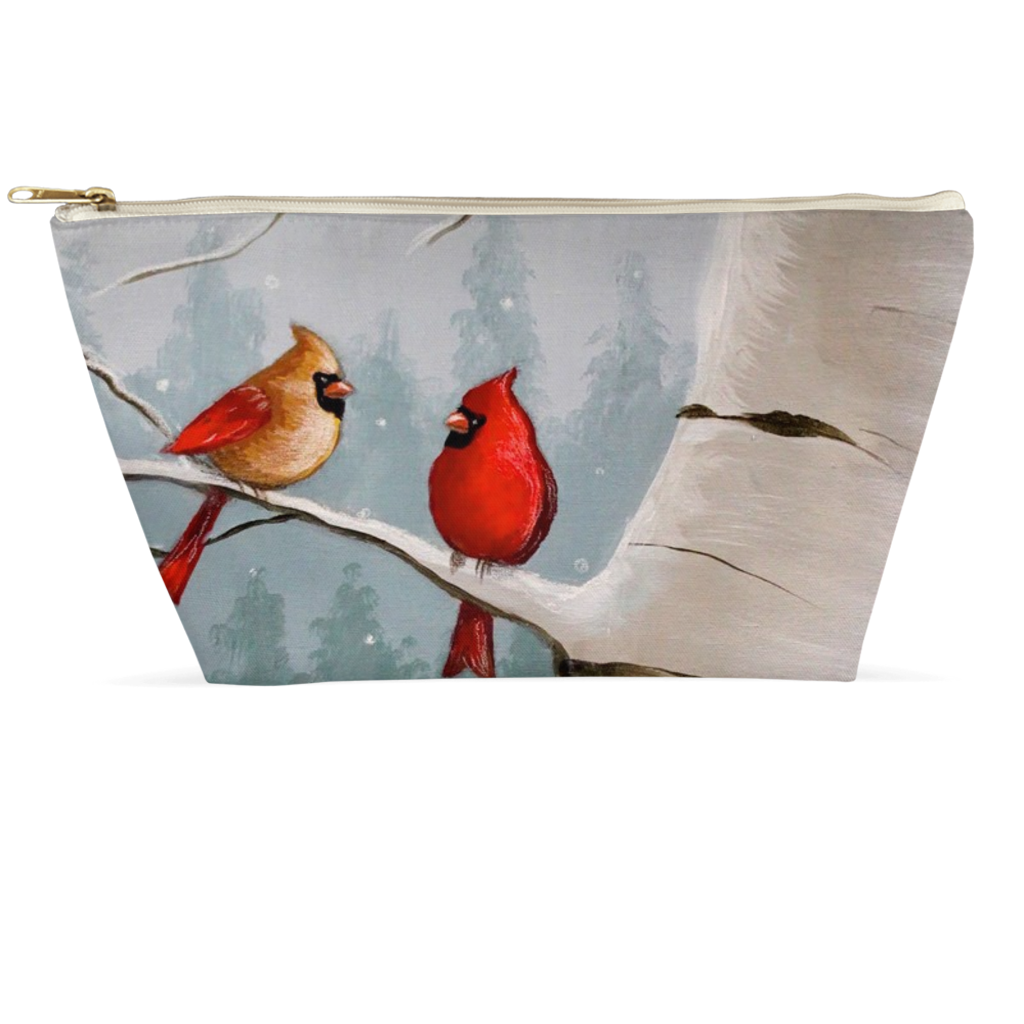 Winter Cardinal Accessory Pouches