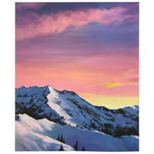 Load image into Gallery viewer, Pink Mountain Sky Fleece Blankets
