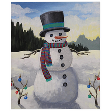 Load image into Gallery viewer, Holiday Snowman Fleece Blankets
