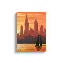 Load image into Gallery viewer, New York Sunset Canvas Wraps
