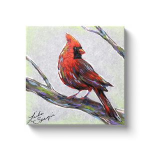 Modern Cardinal Canvas Wraps