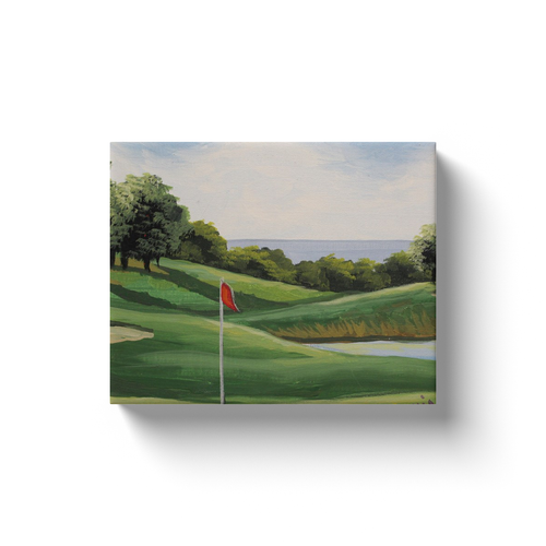 Golf On The Sound Image Canvas Wraps