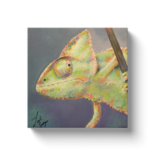 Load image into Gallery viewer, Reggie the Chameleon Canvas Wraps
