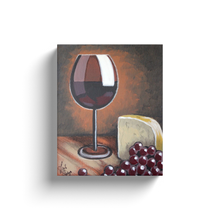 Load image into Gallery viewer, Wine and Cheese Canvas Wraps