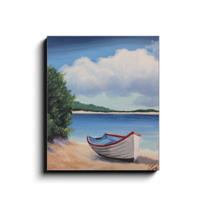 Boat Ashore Canvas Wraps