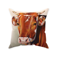Load image into Gallery viewer, Foster the Cow Throw Pillows