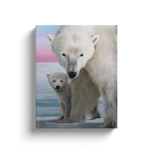 Load image into Gallery viewer, The Guardian Polar Bear Canvas Wraps