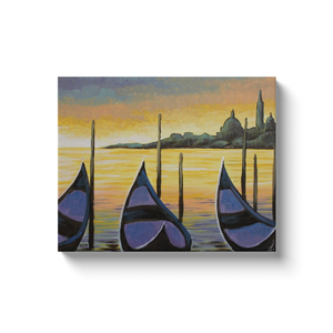 Sunset In Venice Canvas Wraps