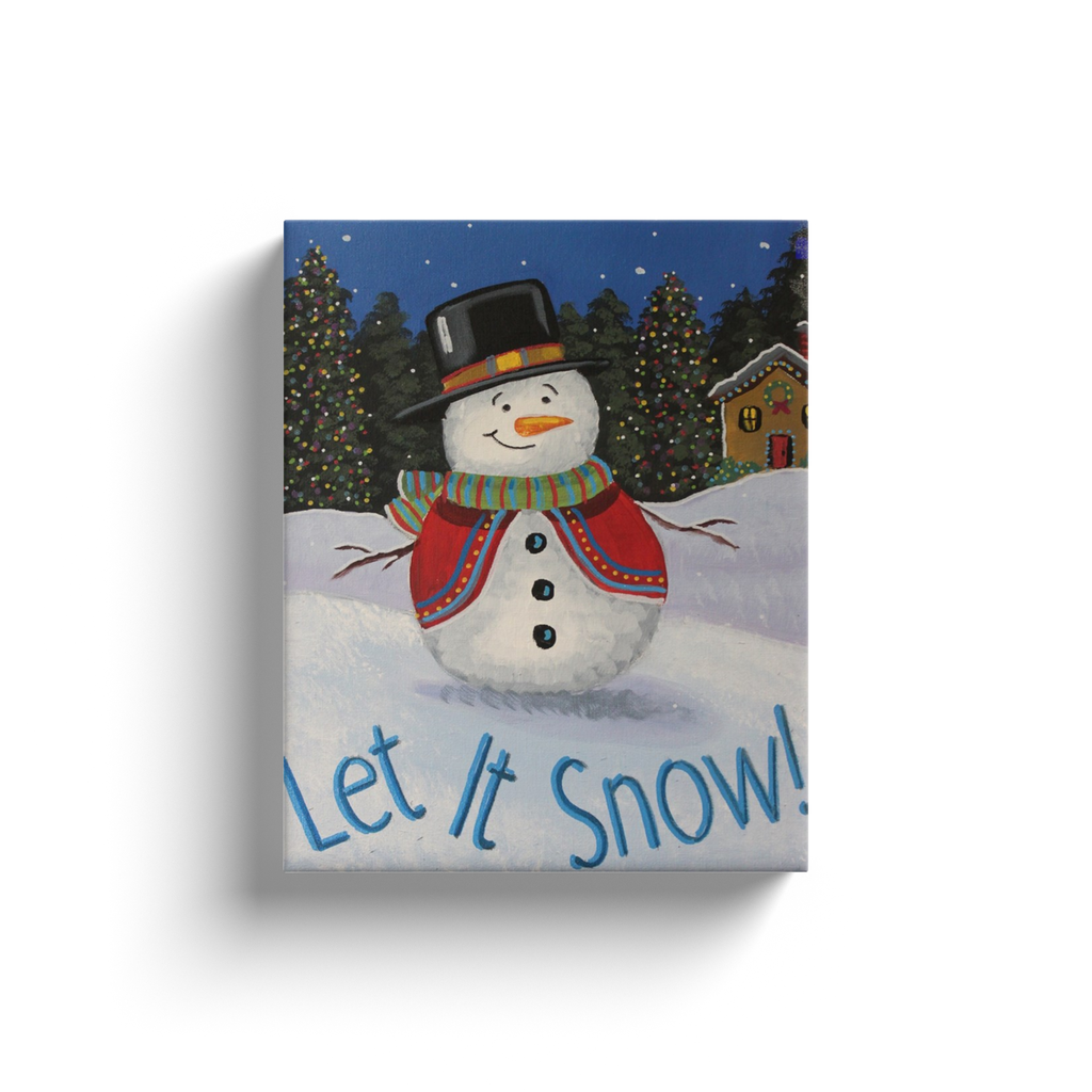 Let It Snow Canvas Wraps