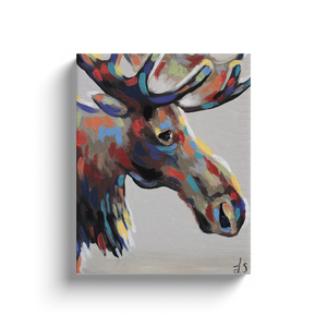 Modern Moose Canvas Wraps