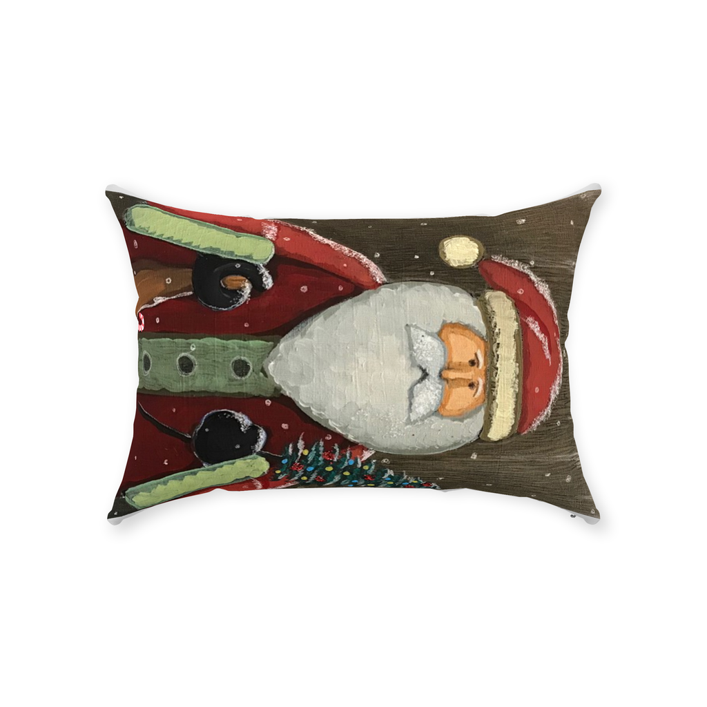 Vintage Santa 1 Throw Pillows