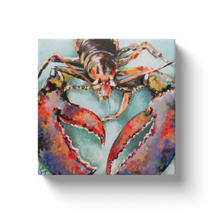 Rocco the Lobster by Linda Sperruzzi Canvas Wraps
