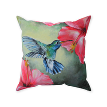 Load image into Gallery viewer, Hummingbird Throw Pillow