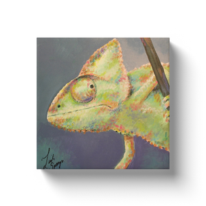 Reggie the Chameleon Canvas Wraps