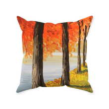 Load image into Gallery viewer, Fall Trees Throw Pillows