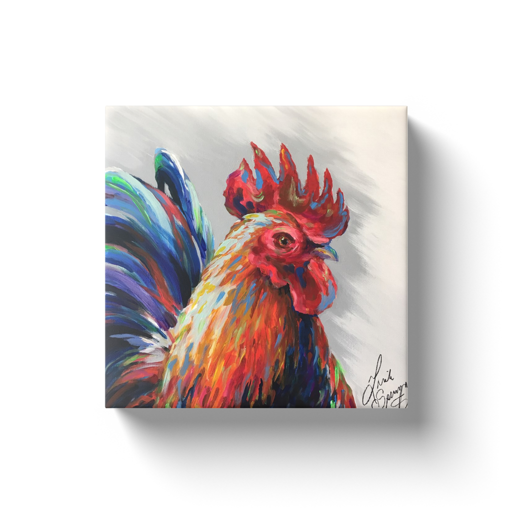 Reynaldo the Rooster Canvas Wraps