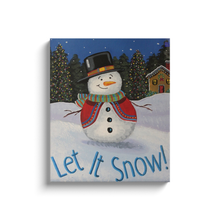 Load image into Gallery viewer, Let It Snow Canvas Wraps