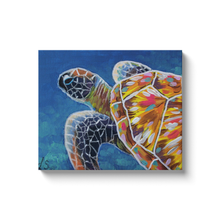 Load image into Gallery viewer, Modern Sea Turtle Canvas Wraps