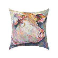 Load image into Gallery viewer, Kevin the Modern Pig Throw Pillows