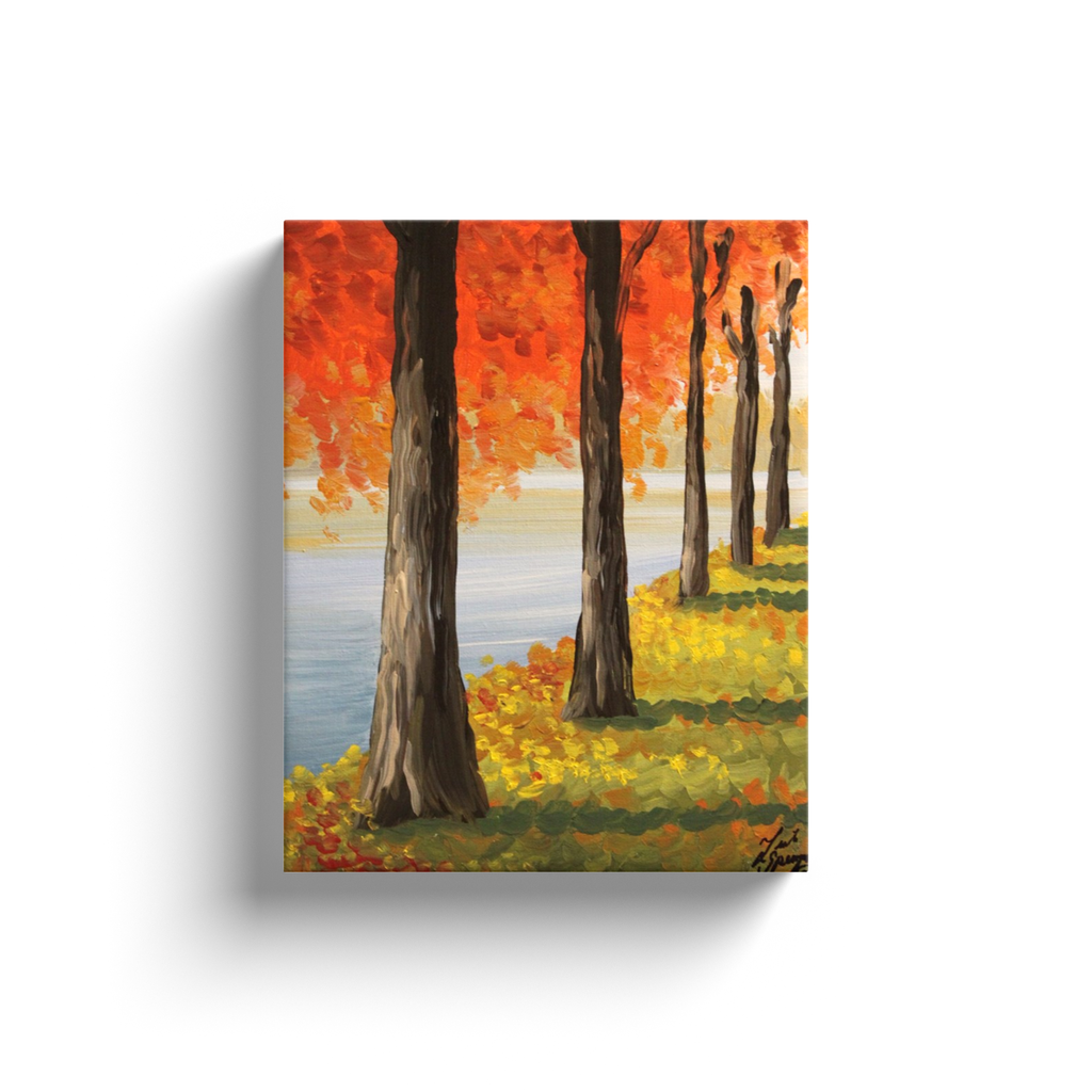 Fall Trees Canvas Wraps