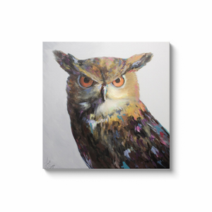 Aria the Owl Canvas Wraps