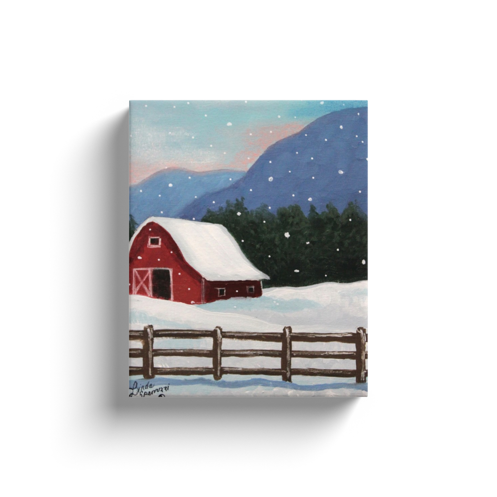 Snowy Mountain Canvas Wraps