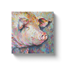 Load image into Gallery viewer, Kevin the Modern Pig Canvas Wraps