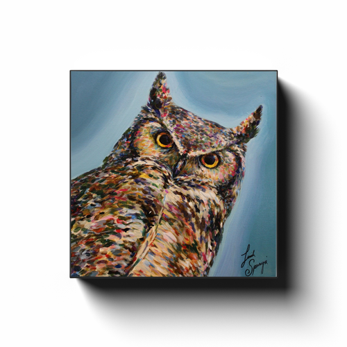 Hoover the Owl Canvas Wraps