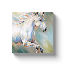 Load image into Gallery viewer, Flora the White Horse Canvas Wraps