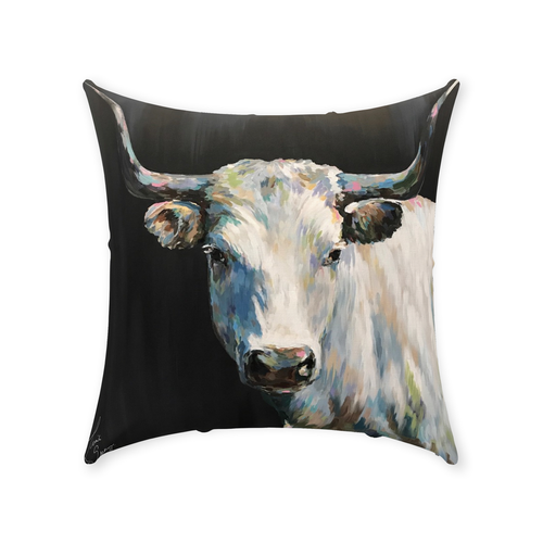 Aremis the Steer Throw Pillows