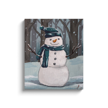 Load image into Gallery viewer, Woodland Snowman Canvas Wraps
