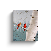 Load image into Gallery viewer, Winter Cardinal Canvas Wraps