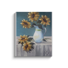 Load image into Gallery viewer, Sunflower Still Life Canvas Wraps