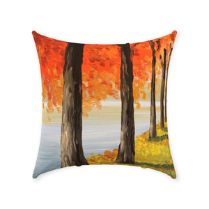 Fall Trees Throw Pillows