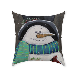 Country Snowman Throw Pillows