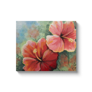 Hibiscus Canvas Wraps